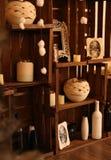 Interior adornado con los detalles de la Navidad Imagen de archivo libre de regalías