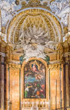 Interior adornado de la iglesia del dei Francesi de San Luigi en Roma Fotografía de archivo