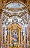Interior adornado de la iglesia del dei Francesi de San Luigi en Roma Foto de archivo libre de regalías