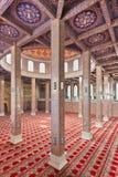 Interior adornado de la mezquita Fotografía de archivo