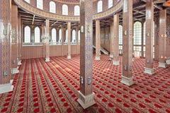 Interior adornado de la mezquita Foto de archivo libre de regalías