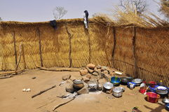 Interior african househols in  a village Stock Image