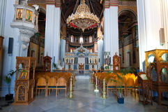 Interior of the Agios Minas Cathedral in Heraklion on the Crete island in Greece. Stock Photography