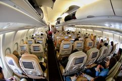 Interior of a Airbus Royalty Free Stock Photos