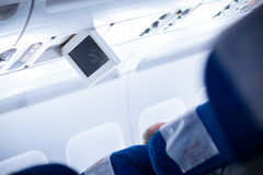 Interior of an aircraft Stock Image