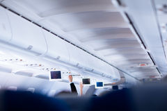 Interior of an aircraft Stock Photos