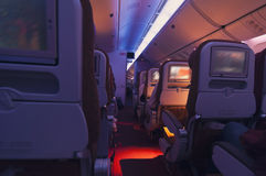 Interior of an airplane Royalty Free Stock Image