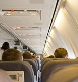 Interior of Airplane Stock Photography