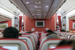 Interior of airplane Royalty Free Stock Photography