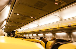 Interior of airplane Stock Photo