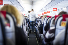 Interior of Airplane Royalty Free Stock Photos