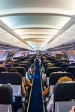 Interior airplane Stock Images