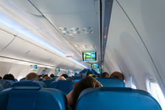 Interior airplane Royalty Free Stock Photo