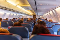 Interior of airplane Royalty Free Stock Photos