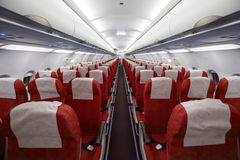 Interior of the airplane Royalty Free Stock Photo