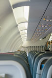 Interior of airplane Royalty Free Stock Photo