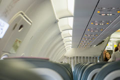Interior of airplane Stock Photos