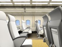 Interior of the airplane salon Royalty Free Stock Images