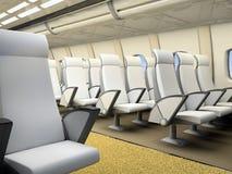Interior of the airplane salon Royalty Free Stock Image