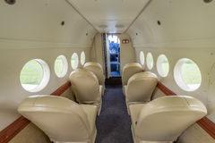 Interior of the airplane. Stock Image