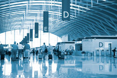 Interior of the airport Stock Photography