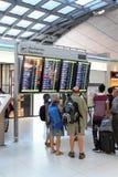 Interior of the airport of Bangkok Stock Photos