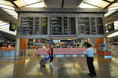 Interior of Airport, Changi, Singapore stock photography