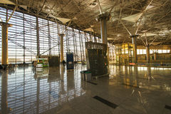 Interior of airport Vnukovo Royalty Free Stock Photos