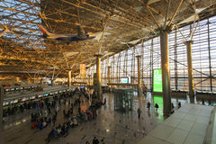 Interior of airport Vnukovo Royalty Free Stock Images