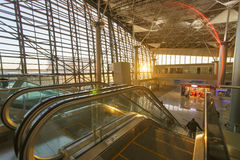 Interior of airport Vnukovo Stock Images