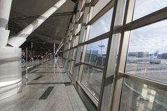 Interior of airport Vnukovo Stock Photo
