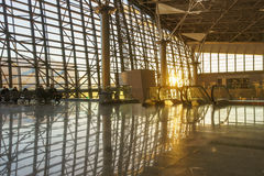 Interior of airport Vnukovo Stock Photos