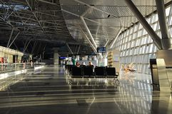 Interior of airport Vnukovo. Moscow. Russia. Royalty Free Stock Images