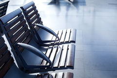 Interior of airport waiting room Royalty Free Stock Image