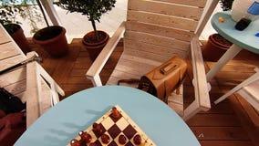 Interior al aire libre del caffee metrajes