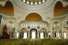 Interior of Al-Bukhari Mosque in Kedah Royalty Free Stock Image