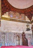 Interior of Al-Nasir Muhammad Mosque, Cairo Citadel, Egypt royalty free stock images