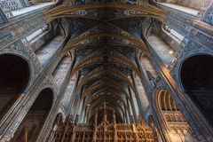 Interior of Albi Cathedral (Cathedral Basilica of Saint Cecilia) Stock Photography