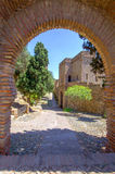 Interior of the Alcazaba of Malaga, Spain Royalty Free Stock Photos