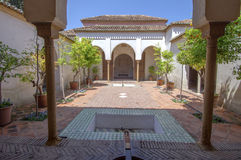 Interior of the Alcazaba of Malaga, Spain.  Royalty Free Stock Photography