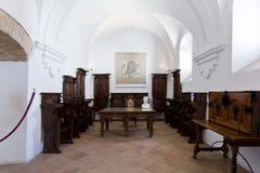 Interior of Alcazar de los Reyes Cristianos in Cordoba Royalty Free Stock Photography