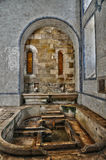 Interior of Alcobaca monastery in Portugal Stock Photo