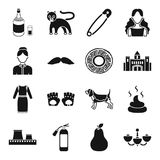 Interior, alcohol, atelier and other web icon in black style.. Interior, alcohol, atelier and other  icon in black style. appearance, furniture, building icons Stock Photo