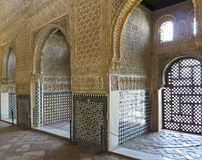 Interior of Alhambra Granada Royalty Free Stock Images
