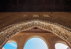 Interior of Alhambra Palace, Granada, Spain. Beautiful interior of Alhambra Palace, Granada, Spain Stock Photography