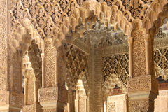 Interior of Alhambra Palace, Granada, Spain Stock Photo