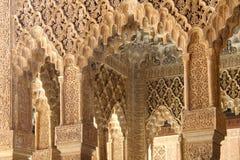 Interior of Alhambra Palace, Granada, Spain. Details of Interior of Alhambra Palace, Granada, Spain Stock Photo
