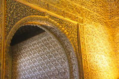 Interior of Alhambra Palace, Granada, Spain Stock Photography