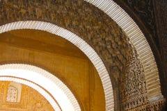 Interior of Alhambra Palace, Granada, Spain. Details of Interior of Alhambra Palace, Granada, Spain Stock Images