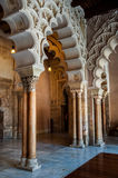 Interior of Aljaferia Palace in Saragossa, Spain Royalty Free Stock Images